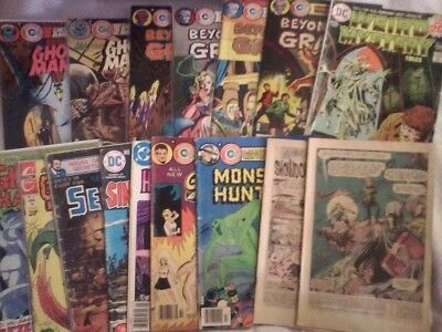 16 HORROR comics Charlton DC bronze Ghost Manor Sinister House Beyond Grave lot