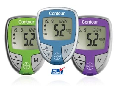 Contour Blood Glucose Meter - BLUE - Bayer - Diabetes - Single Unit Meter Only