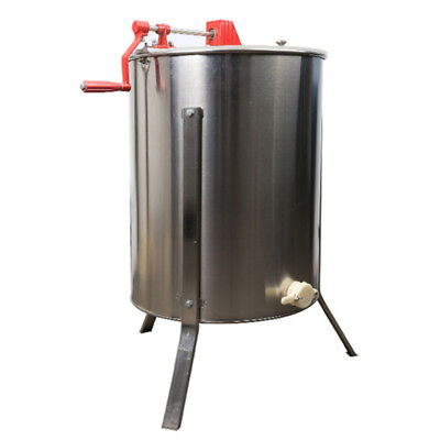 Manual 4 Frame Full Closed with Cap Bee Honey Extractor Honey Centrifuge