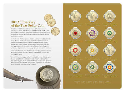 2018 $2 Twelve Coin Collection 30th Anniversary Of The $2 Dollar Coin Australia