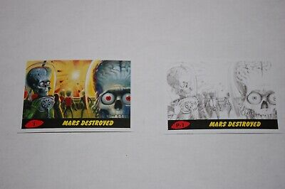 Mars Attacks The Revenge-Complete Set 110 Cards-Topps 2017
