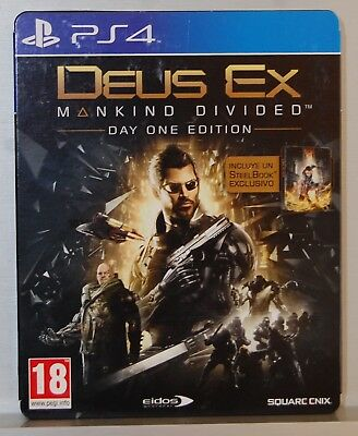 Deus Ex Mankind Divided Day One Edition With Steelbook Playstation 4 -Pal Esp