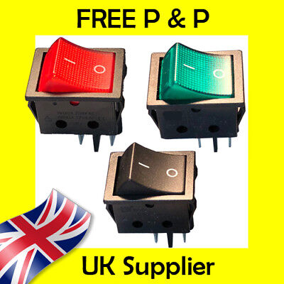Large On-Off Rectangle Rocker Switch DPST High Quality