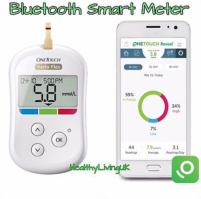 OneTouch Verio Flex Blood Glucose Meter/Monitor - Wireless/Bluetooth - RRP £80
