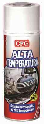SPRAY VERNICE ALTA TEMPERATURA ROSSO 400ml CFG S0540 SPRY SMALTO 800°C STUFA FOR
