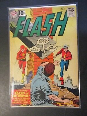 DC Comics Flash # 123 Two Worlds 1960 Vintage Old Comic Book