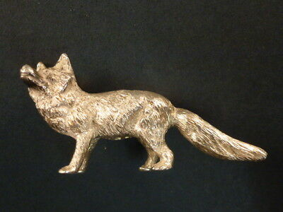 Solid Silver Model Of A Fox