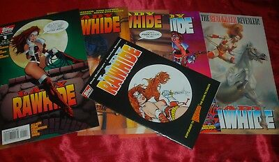 Complete LADY RAWHIDE (Zorro) Limited Series & Wizard Exclusive - Topps Comics