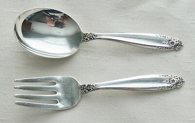 International Silver Sterling Silver Prelude Baby Spoon & Fork Set