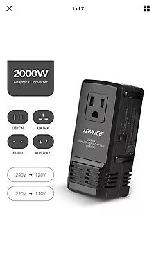 TryAce 2000W Worldwide Travel Converter Adapter Transformer Set Down Voltage 220