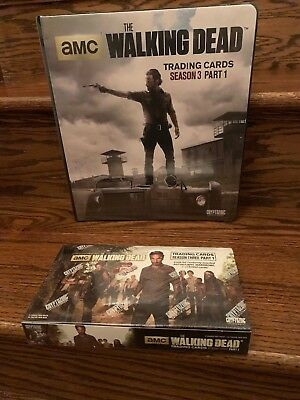 Cryptozoic Walking Dead Season 3 Part 1 Trading Card HOBBY Box + Binder with M28