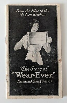 """Antique """"Story of WEAR-EVER"""" Aluminum Cooking Utensils Paper Pamphlet Booklet"""