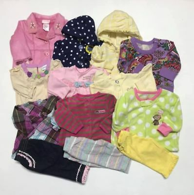 LOT OF 13 Pcs Baby Girl's clothes, sizes 3-6 months