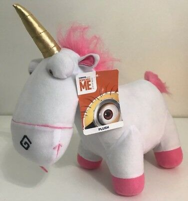 "New 13"" Despicable Me Minion Made Fluffy Unicorn Universal Plush TOY FACTORY"