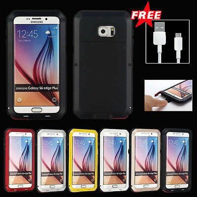 Glass Shockproof Aluminum Metal Case Cover For Samsung S6 W/FREE USB Cable