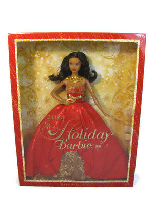 Mattel 2014 Barbie Doll Holiday Christmas AA Collector Red Dress NEW
