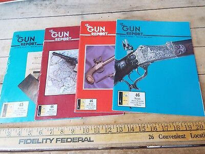 Gun Report 2001  - Lot of 4 - April, August, November, December 2001