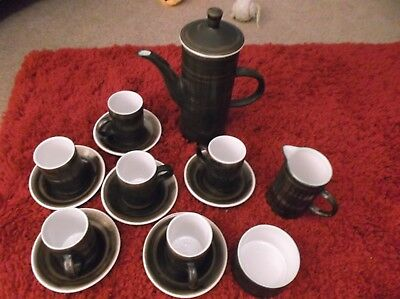Cinque Ports Pottery The Monastery Rye Coffee Set Vintage Excellent Condition