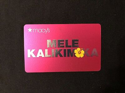 "NEW: 2018 Macy's Hibiscus ""MELE KALIKIMAKA"" HAWAII GIFT CARDS (no cash value)"