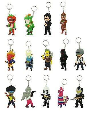 Fortnite Double Sided 3D PVC Keychain 3.75 Inches Gift