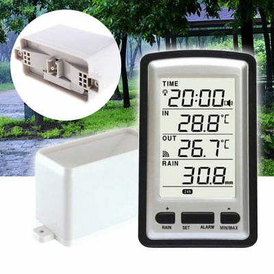 2018 Wireless Rain Gauge Meter Thermometer Weather Station For In/out Temp