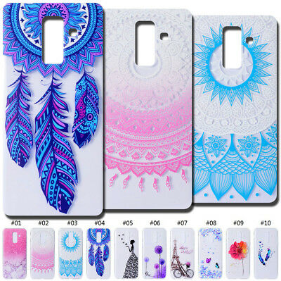 Soft Rubber Case Cover Pattern Silicone Skin TPU Clear Back For Samsung Galaxy