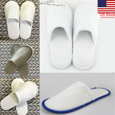 US Slippers Hotel SPA Disposable Shoes Home Guest Supply Slippers Closed Toe New