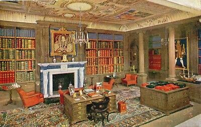 The Queen's Doll's House The Library Tuck Oilette Postcard 4501