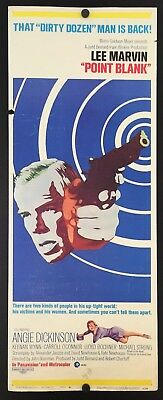 Original 1967 POINT BLANK Movie Insert Poster 14 x 36 L Marvin ANGIE DICKINSON