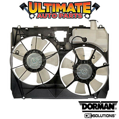 Radiator Cooling Fan /& Overflow Reservoir Assembly for 14-15 Toyota Corolla New
