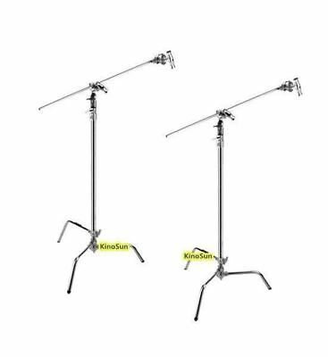 2sets* Stainless Steel 3m 40'' C Stand detachable turtle base gobo arm grip head