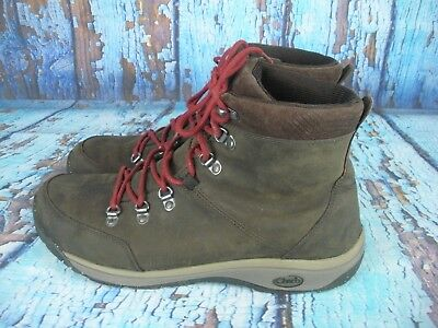 6f9c18216b0 Chaco J150093 Roland Brown Leather Hiking Trail Boots Men s Size  11.5