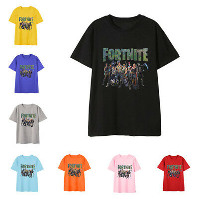 Fortnite Short Sleeve Game Related Cotton T-shirt Blouse Unisex Summer Top Tee