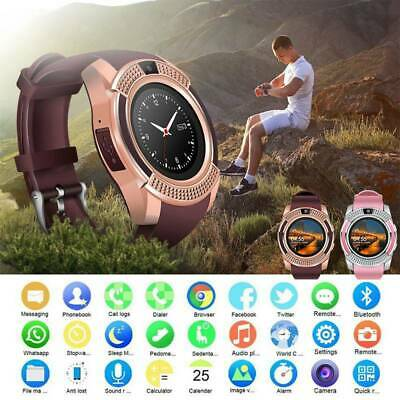 V8 Waterproof Bluetooth Smart Wrist Watch Phone Mate for Android iPhone Samsung