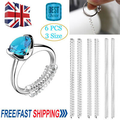 6X Engagement/Wedding Ring Resizer Resize Adjuster Size Snuggies 10cm Easy fit