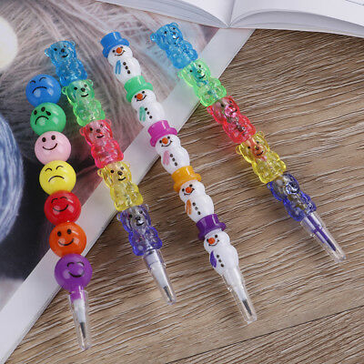 1Pc/2pcs cute colorful smile pencil crayons children drawing gift XM