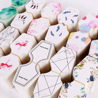 100 Pcs Printing necklace cards bracelet bracelet jewelry display hang tags XM