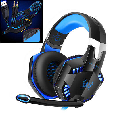 3.5 mm Gaming Headset MIC LED Kopfhörer G2000 für PC Mac Laptop PS4 Xbox One
