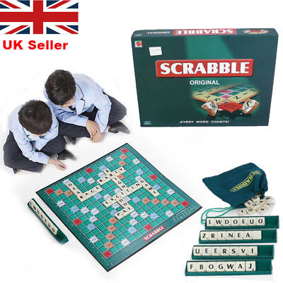 Scrabble Board Game Family Kids Adult Educational Toys Puzzle Game Gift UK