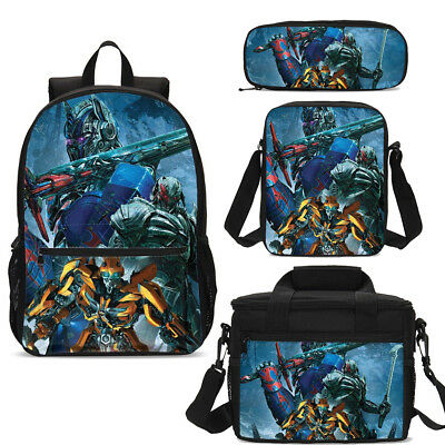 Transformers Bumblebee 17 inch Schoolbag Travel Bag for Boy Lunch Bag Wholesale