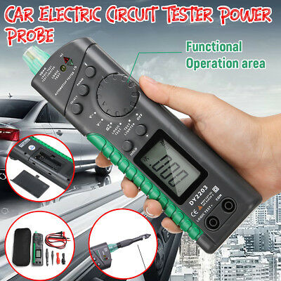 LCD Digital Multimeter Car Electric Circuit Tester Power Probe Diagnostic Tool