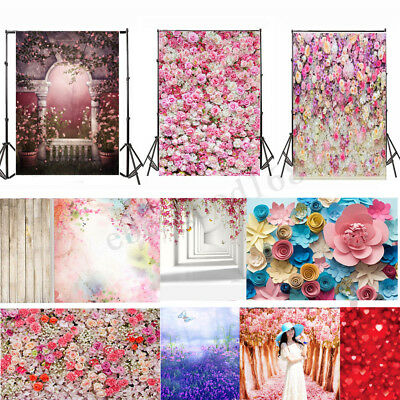 Flower Wall Floor Photography Valentine's Day Backdrop Photo Studio Background