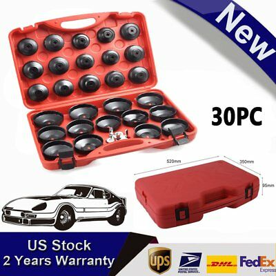 30PCS CUP TYPE Oil Filter Wrench Cap Removal Core Socket