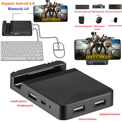 KEY MOUSE KEYBOARD Converter Mobile Gaming Adapter Dock For PUBG