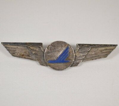 PIEDMONT AIRLINES Vintage Silver Tone METAL Flight Wings Pin Badge *RARE*