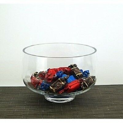 Handmade Glass clear bowl salad fruit storage container sweet