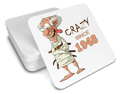 70th Birthday 1948 Happy Present Gift Idea For Men Him Male Keepsake Coaster