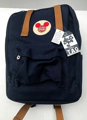 Disney Parks Backpack TAG Collection Mickey Mouse Classic Icon Navy Blue New