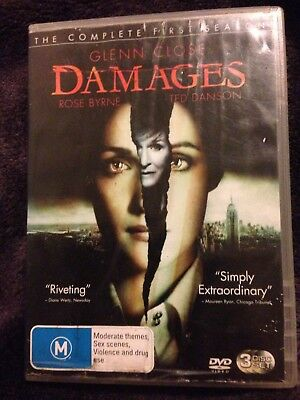Damages Glenn Close the complete 1st season 3 disc dvd