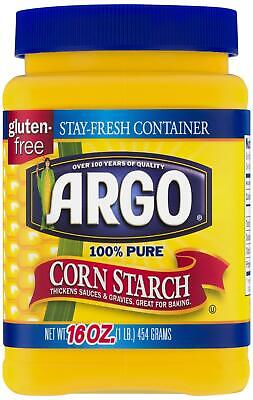 Argo 100% Pure Corn Starch (16 oz) 454g - USA Import